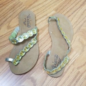 Gold Sandals {Unlisted}